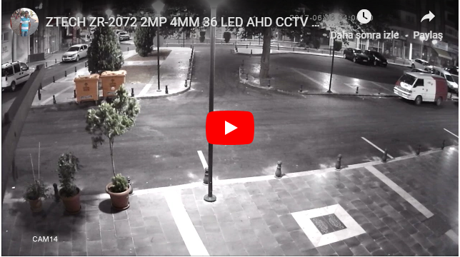 ZTECH ZR-2072 2MP 4MM 36 LED AHD CCTV CAMERA GECE